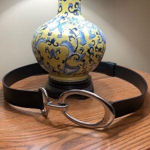 Chico's belt, dark brown leather, adjustable M/L